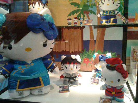 Hello Kitty X Street Fighter plushies heading to a Hot Topic near you