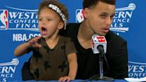 NBA Star Steph Curry's Daughter Riley Adorably Steals Post-Game Interview