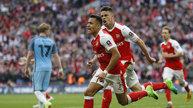 Alexis Sanchez sends Arsenal into FA Cup final after extra-time win over Manchester City