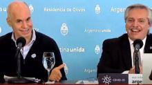 Coronavirus en la Argentina: el chiste de Horacio Rodríguez Larreta que hizo reír a Alberto Fernández