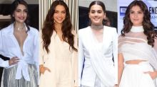 Sonam Kapoor, Deepika Padukone, Taapsee Pannu, Tara Sutaria DON'T CARE If It Pours- White Is Just Right!