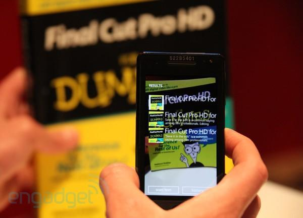 Windows Phone Mango and Bing Vision hands-on