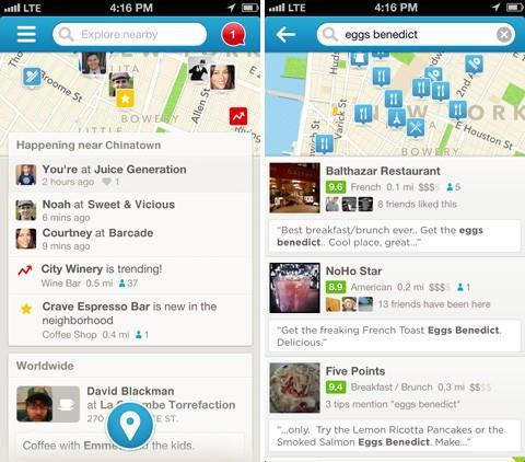 Foursquare 6.0 for iOS shifts the focus to exploration with a new home screen