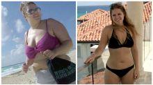 Chocolate addict drops 38kg to become 'bikini ready'