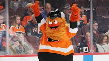 Gritty's best moments as NHL players vote it best mascot