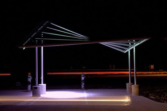 Pvilion's solar charging station brings the battery-powered cars to the yard