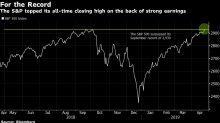 Wall Street alcanza máximos históricos por sorpresas de ganancias