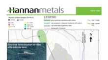 Hannan Samples 3 Metres @ 2.5% Copper and 22 g/t Silver in Outcrop