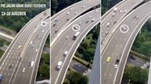 LTA to enhance safety features along stretch of PIE following video of cars skidding