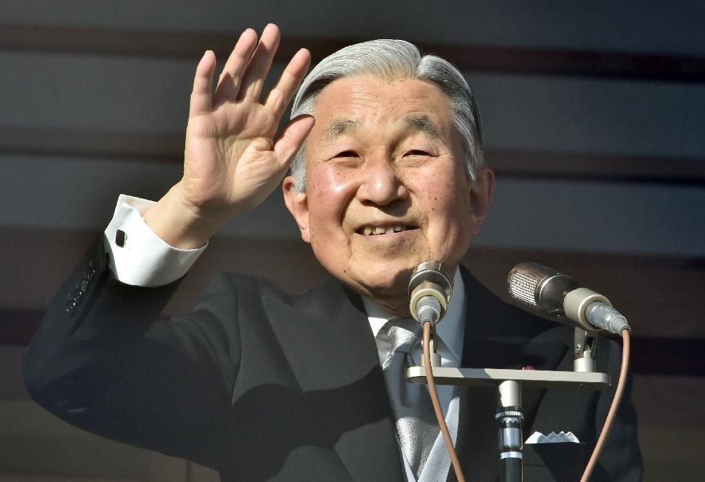 Japanese Emperor Akihito will give an address via video at 3:00 pm (0600 GMT) on Monday August 8, an Imperial Household Agency spokesman said (AFP Photo/Kazuhiro Nogi)