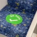 Social Distancing Signs Appear on Sydney Public Transport