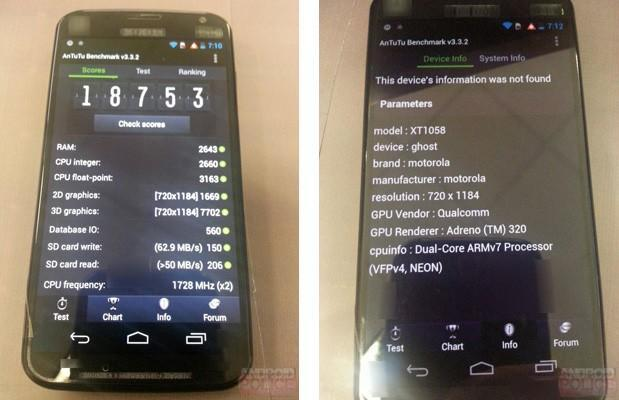 Moto X benchmarks and specs slip out, point to a fine mid-tier phone