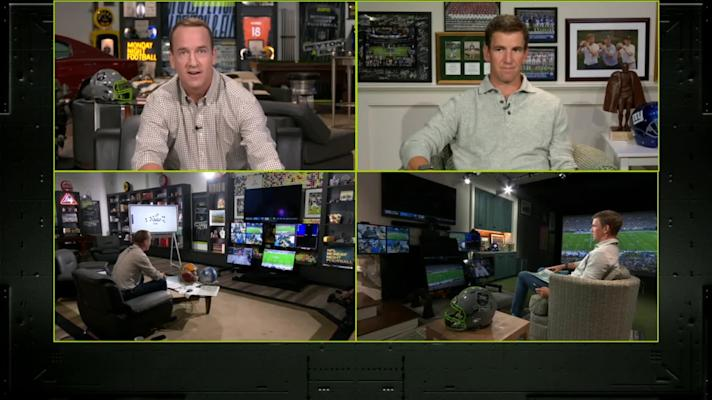 Best of Peyton and Eli Manning from 'MNF' Week 2