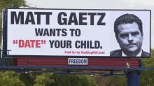 'Matt Gaetz wants to date your child' billboard goes up in Florida