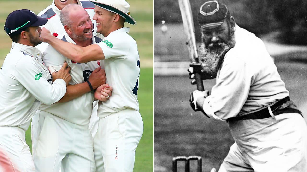Cricketer's extraordinary 124-year first not seen since WG Grace