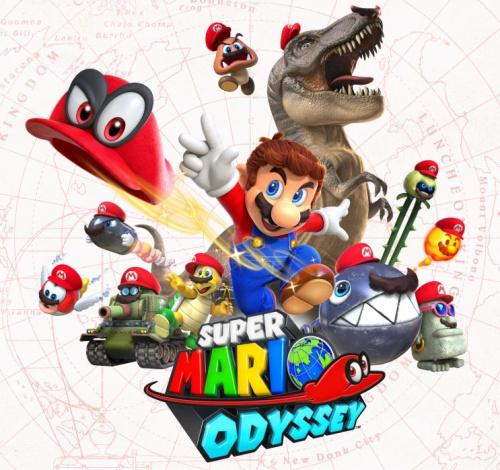 Super Mario Odyssey title image.