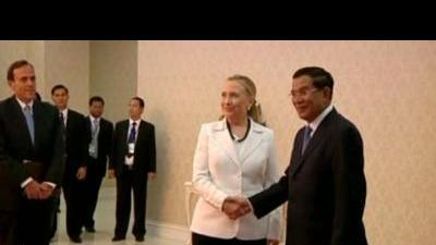 Secretary Clinton meets with Cambodian prime ...