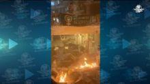 Por feminicidios, prenden fuego al interior del Poder Judicial de Sonora