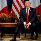 Donald Trump considering Bastille Day-style armed forces parade as he jokes withEmmanuel Macron at UN