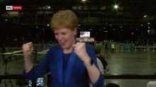 Nicola Sturgeon celebrates as Jo Swinson loses seat