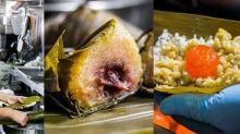 【元朗美食】圍頭人手包粽!$17鹼水粽+$27蛋黃鹹肉粽