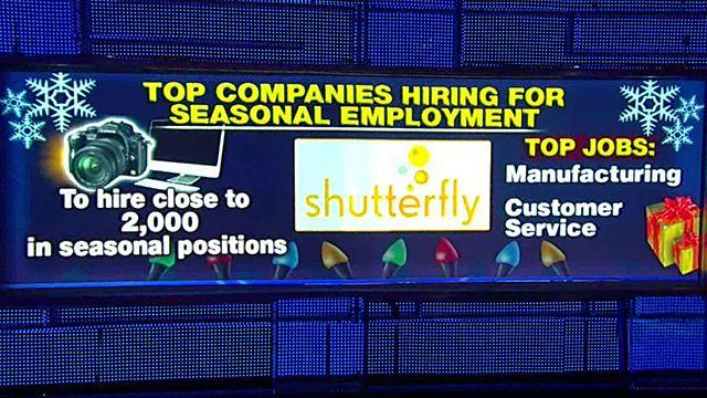 Top companies hiring for the holidays