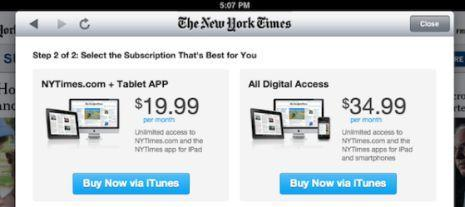 New York Times updates iPhone, iPad apps to offer in-app subscriptions