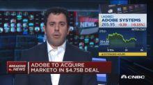 Adobe to acquire Marketo in $4.75 billion deal