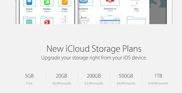 Apple reveals new iCloud pricing, but you still only get 5GB of space for free