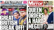 'The Great British Break Off': How North American And UK Newspapers Reported Meghan And Harry's Exit