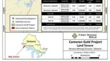 First Mining Consolidates Strategic Land Position at Cameron Gold Project