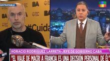 """Horacio Rodríguez Larreta habló sobre el viaje de Mauricio Macri a Europa: """"Es una decisión personal"""""""