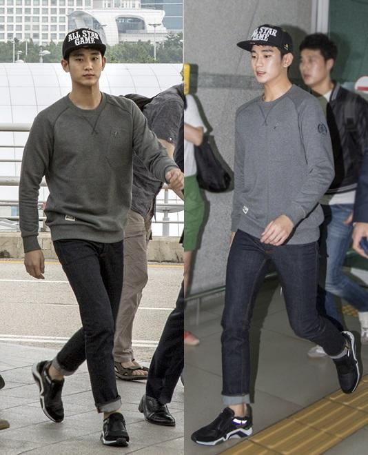 Kim Soo Hyun draws attention with a fabulous airport fashion