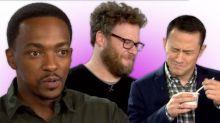 Seth Rogen, Joseph Gordon-Levitt and Anthony Mackie Take Our Holiday Food Taste Test