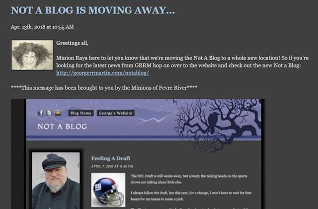 George R.R. Martin, the last great LiveJournal user, leaves the platform