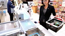 Panasonic introduces robotic checkout at a grocery store in Osaka