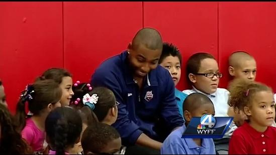 Olympic Gold Medalist spreads word on swimming lessons in Greenville