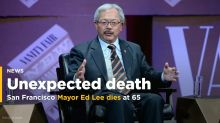 San Francisco Mayor Ed Lee dies at 65: mayor's office
