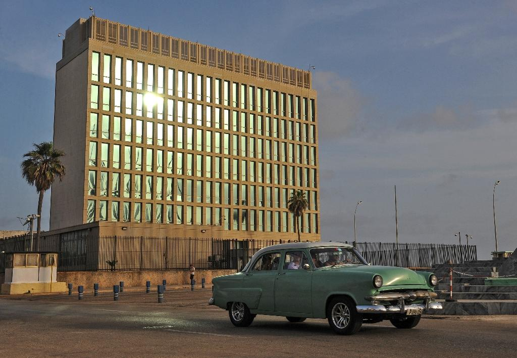 Picture of the US interests section in Havana,Cuba taken on July 1, 2015 (AFP Photo/Yamil Lage)