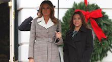 Melania Trump's checked Chloé coat is currently half price