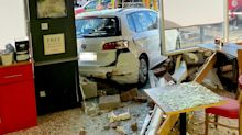 Christmas shoppers injured after driver 'aged in his 80s' crashes through Tesco cafe window