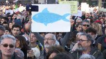 Rome 'sardines' cram together to take on Salvini