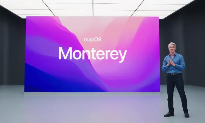 Apple's macOS Monterey presentation.