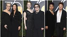 Las desconocidas acompañantes de las actrices de Hollywood en los Globos de Oro