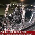 2 Killed In Fiery Crash When Driverless Tesla Hits Tree In Texas