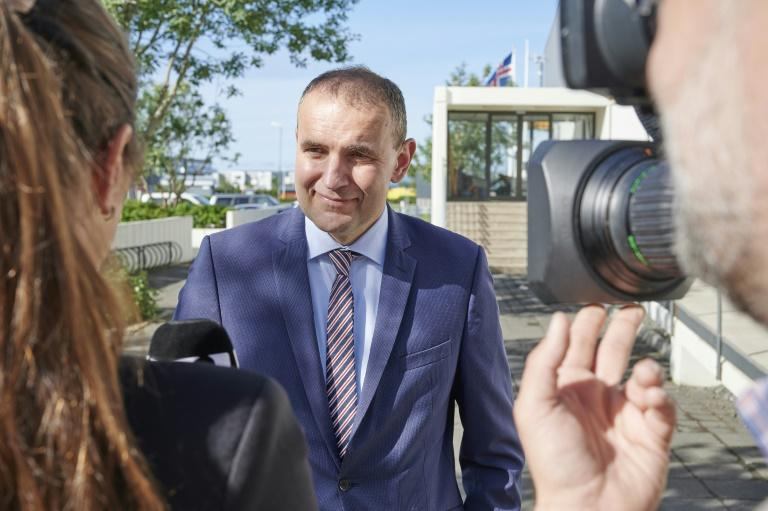 Iceland's President Gudni Johannesson is a 55-year-old independent and former history teacher (AFP Photo/Halldor KOLBEINS)