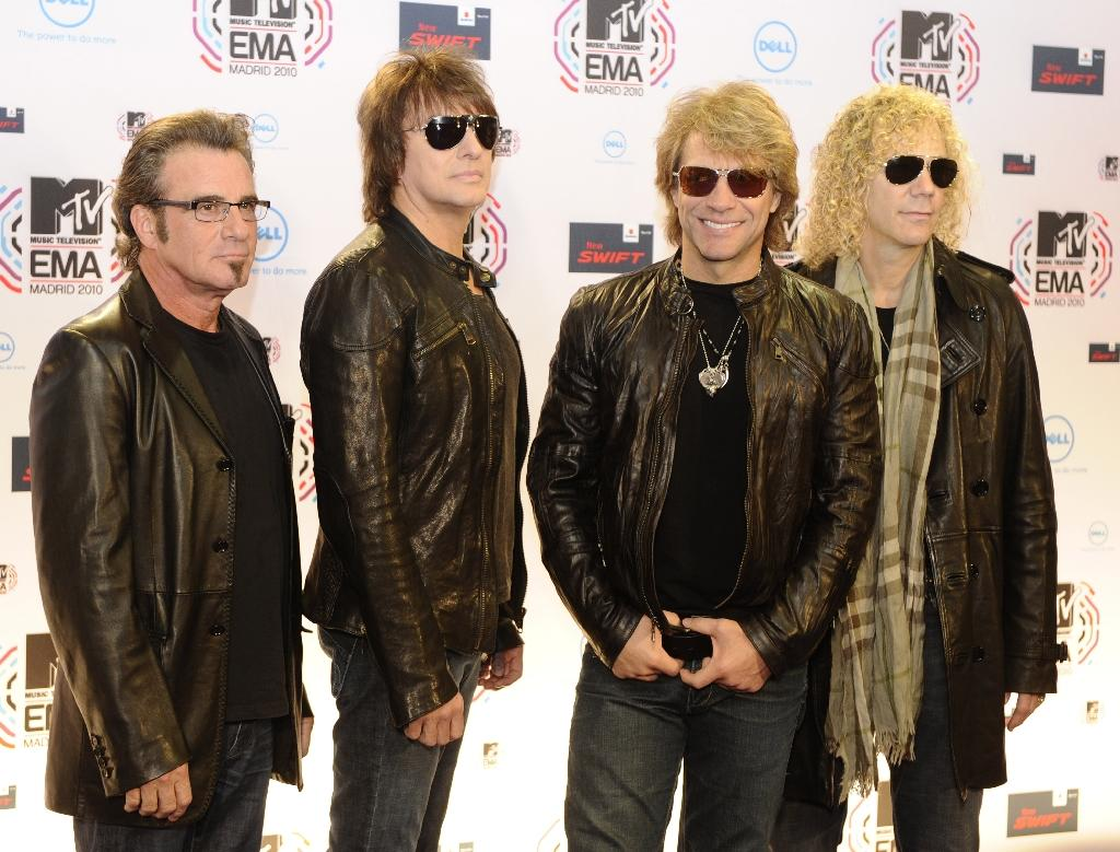 Rockers Bon Jovi reunited with original guitarist Richie Sambora for a rousing set at the Public Auditorium in Cleveland