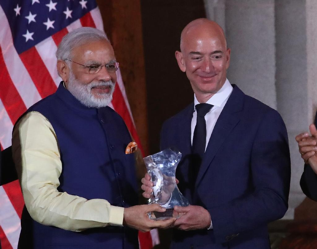 Amazon's Jeff Bezos bets on India with $3 bn investment