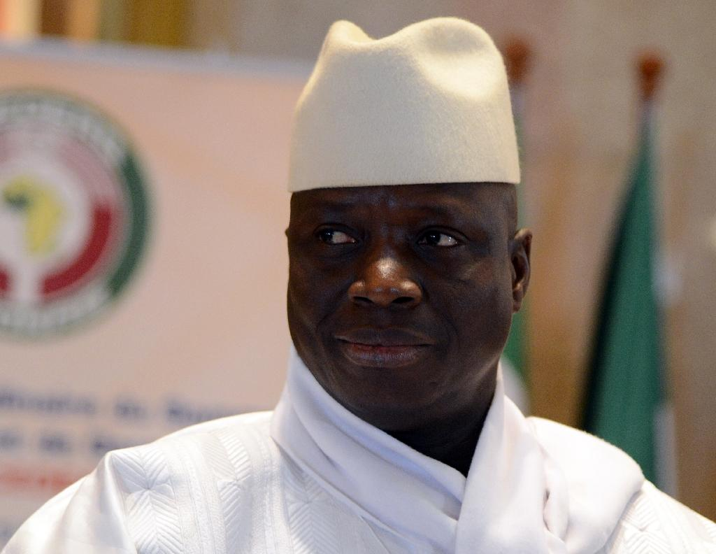 Jammeh, pictured at a West African summit in Ivory Coast in 2014 (AFP Photo/ISSOUF SANOGO)