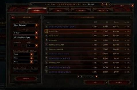 Diablo III pulls trigger on NA real-money auction house